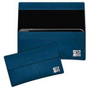 SIMON PIKE Cáscara Funda de móvil NewYork 1 azul petróleo LG E610 Optimus L5 Fieltro de lana