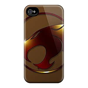 Scratch Protection Cell-phone Hard Cover For Iphone 4/4s With Custom Colorful Thundercats Series SherriFakhry