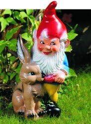 Conejo enano, 45 cm, los gnomos de jardín, de plástico: Amazon.es: Jardín