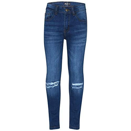 A2Z 4 Kids® Kinderen Jorgens Mager Jeans Ontwerper Denim Knie Gescheurd Mode Fietsers Broek Modieus Vervaagd Bottom Slim…
