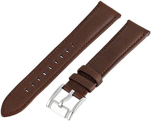 Fossil Women's S181051 Heirloom Leather 18mm Watch Strap - Dark Brown
