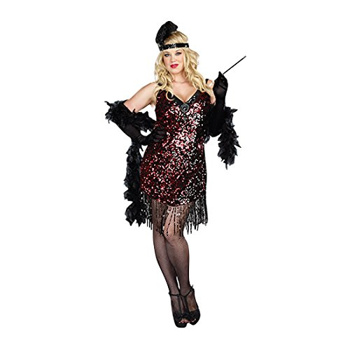 Dreamgirl Women's Plus-Size Dames Like Us Costume, Black, -