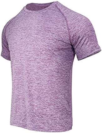 MEN RUNNING WORKOUT ATHLETIC T-SHIRTS - SHORT SLEEVE DRY FIT PERFORMANCE MALE T SHIRTS