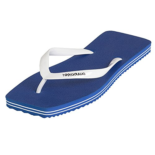 Hikkaduwa Chanclas LINE MODEL para mujer, color liso, zapatos aleros Azul