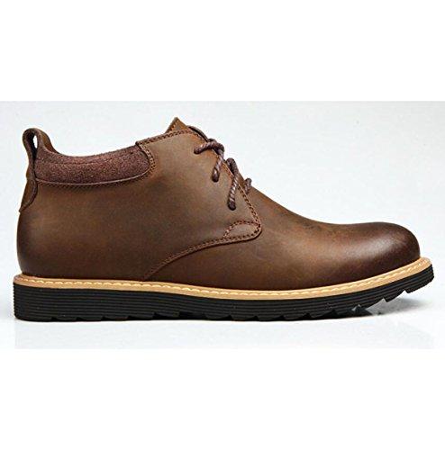 Automne Et Hiver Angleterre Bottes Martin Hommes Militaire Bottes Bottes En Cuir Bottes Outil Bottes Pour Hommes Pour Aide Chaussures Hommes, Brown-single-37