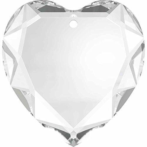 6225 Swarovski Pendant Beveled Heart | Crystal | 28mm - Pack of 1 | Small & Wholesale Packs | Free Delivery Heart Briolette Pendant