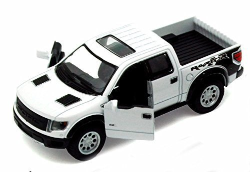 Ford F150 Collectibles - 2013 Ford F-150 SVT Raptor SuperCrew Pickup Truck, White - Kinsmart 5365D - 1/46 scale Diecast Model Toy Car by Kinsmart