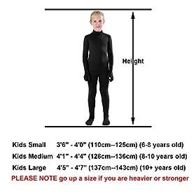 - 41C1cl8pkXL - Full Bodysuit Kids Dancewear Solid Color Lycra Spandex Zentai Child Unitard