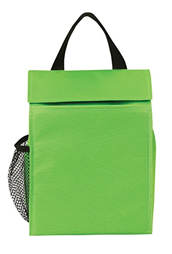 Eunichara Lunch Sack Polyester 600D, Insulated, Heat-sealed PEVA Lining, Sleeve Pocket for Accessories with Side Mesh Pocket, Easy Spot Clkean / Air Dry (7.5