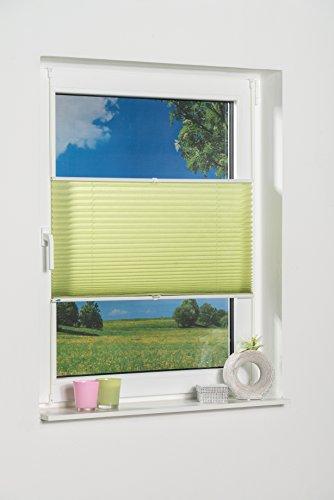 K-home 665634-10 Klemmfix-Plissee Palma 70 x 210 cm, grün