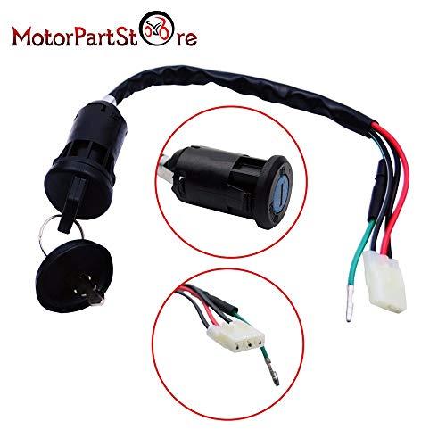 VistorHies -Ignition Switch Key for HONDA 250 EX X TRX250EX TRX250X 2006 2007 2008 2009 2011 2012 Motorcycle Dirt Pit Bike D30