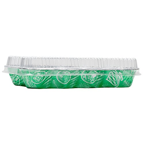 Durable Packaging Disposable Aluminum Foil Christmas Tree Pan with Dome Lid, 11-13/32'' x 9-1/8'' x 1-1/2'' (Pack of 50) by Durable Packaging (Image #2)