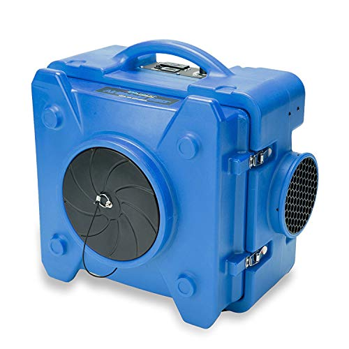 (BlueDri AS-550 Industrial Commercial HEPA Air Purifier, Negative Air Machine Air Scrubber, Blue)