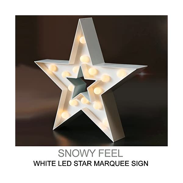 Bright Zeal 13 Large Led Star Marquee Sign 6hr Timer Star