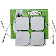 "Premium 40 Electrodes 10 Packs of 4 Electrodes 2.0"" x 2.0"" Each Preferred White Foam Backing with US Made Gel Adhesive for Multiple Use by Eco-Patch®"