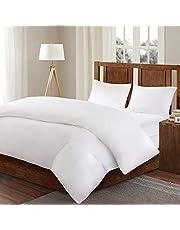 Sleep Philosophy Bed Guardian 3M Scotchgard Comforter Protector Duvet Cover with Zipper Flap-Waterproof-Hypoallergenic, King, White