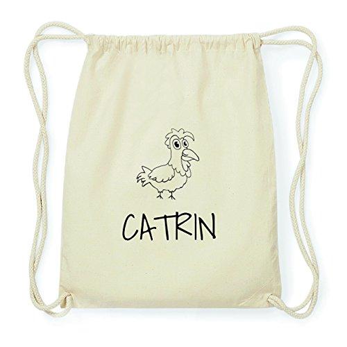JOllipets CATRIN Hipster Turnbeutel Tasche Rucksack aus Baumwolle Design: Hahn Ez6zhgkf
