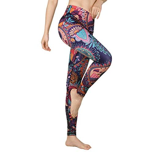 Printed Yoga Pants High Waist Fitness Plus Size Workout Leggings Control Capris Trousers for Women