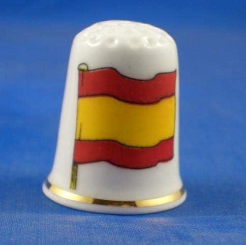Para porcelana con punta de dedal Coleccionable de porcelana de la bandera de Espa/ña