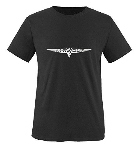 Schwarz Air hombre para wolf Manga Negro Siber corta Camiseta 06xR4XwnX