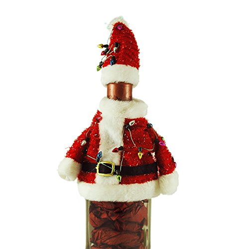 Ugly Santa Sweater Bottle (Ugly Christmas Sweater Party Ideas)