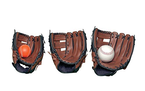 - Sportime Genuine Leather Baseball Glove - Adult 13 inch - For Left Handed Thrower