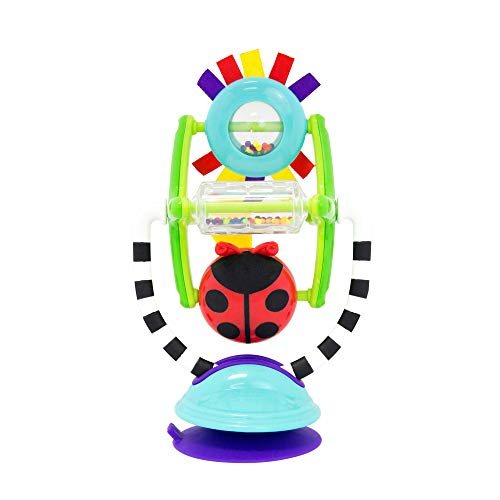 (Sassy Sensation Station 2-in-1 Suction Cup High Chair Toy | Developmental Tray Toy for Early Learning | For Ages 6 Months and)