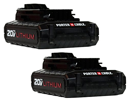 Porter Cable 20V MAX Lithium Ion Battery (PCC681L) (2-Pack) (Certified Refurbished)