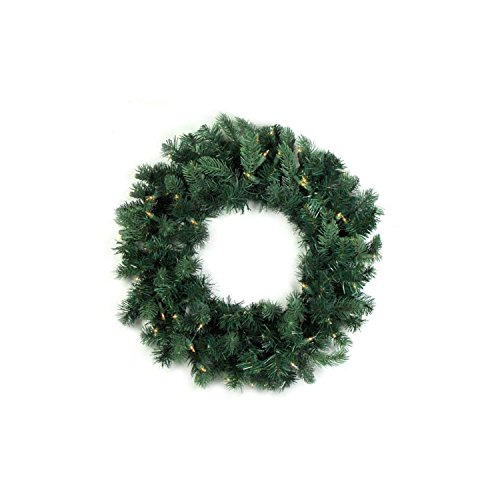Northlight Pre-Lit Washington Frasier Fir Artificial Christmas Wreath with Clear Lights, 48'' by Northlight