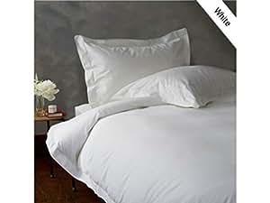 4piezas Juego de sábanas–-- 400ThreadCount blanco sólido Euro pequeña sola 100% algodón egipcio Extra profundo bolsillo (8Inche)–as1