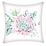 LEEDY, Square Cushion Cover Pillowcase Polyester Cushion Cover Home Decoration 45 X 45 Cm, Suitable For Living Room Sofa Bedroom Car Seat Cushion