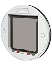 Cat Mate Large Glass Fitting Cat Flap, White (357W)