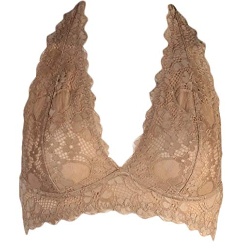Free People Women's Galloon Lace Halter Nude Small