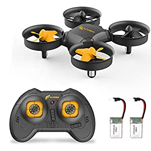 A11 Mini Drone for Kids and Beginners, RC Helicopter Quadcopter with Auto Hovering, Headless Mode, 3D Flip, Rotation, Extra Batteries and Remote Control-Black 41C1h74mqqL