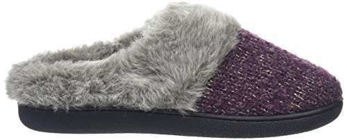 Dearfoams Damen Gold Accent Knit Clog with Memory Foam Hausschuhe Purple (Aubergine 00765)