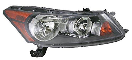 Front Headlight Headlamp Right Hand Passenger Side for 08-12 Honda Accord - Sedan Accord 2009 Honda