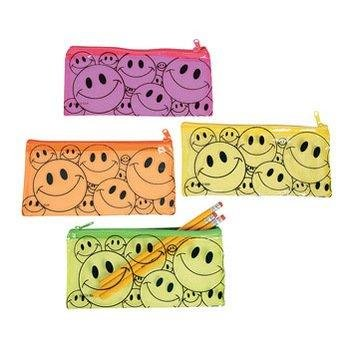 Fun Express Vinyl Smile Face Pencil Pouch Case Party Favor S