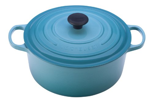 Le Creuset Signature Enameled Cast-Iron 4-1/2-Quart Round French (Dutch) Oven, Caribbean ()