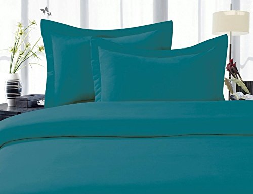 Elegant Comfort 1500 Thread Count Wrinkle,Fade and Stain Resistant 4-Piece Bed Sheet set, Deep Pocket, HypoAllergenic - King Turquoise