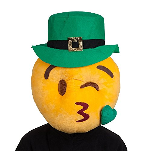 St Patricks Kissing Face Mask Adults Fancy Dress Smiley Costume Accessory ()