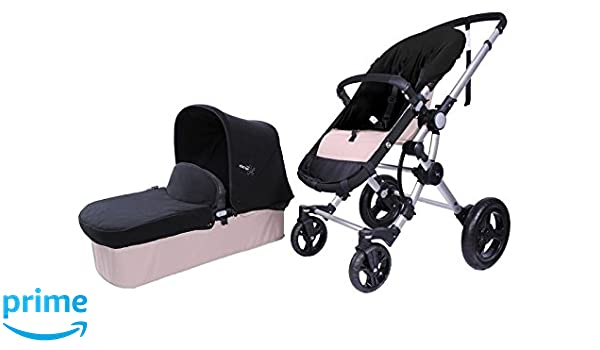 BabyAce 042 - Cochecito de bebé dúo - Chasis plata, base arena, set polar negro: Amazon.es: Bebé