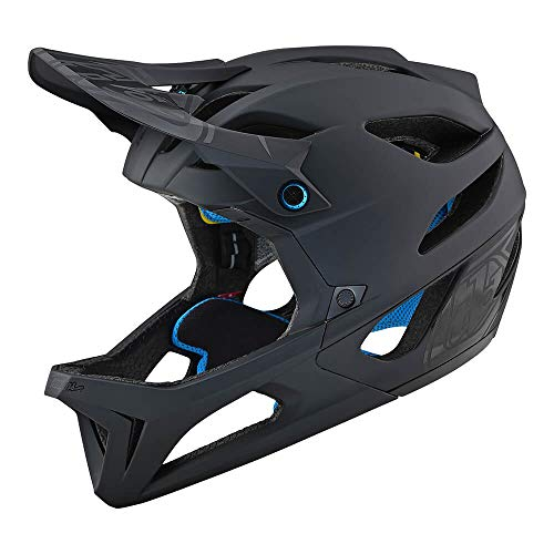 Troy Lee Designs Stage Stealth Full Face Mountain Bike Adult Helmet with MIPS and TLD Shield Logo (Medium/Large, Matte Black)