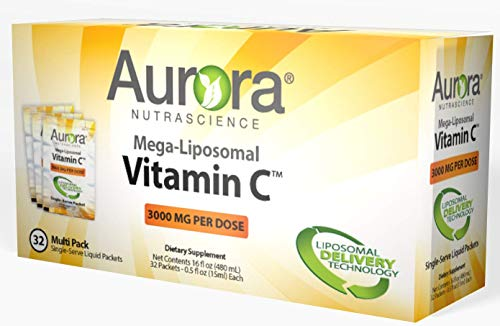 Aurora Nutrascience, Mega-Liposomal Vitamin C, 3000 mg, 32 Single-Serve Liquid Packets, 0.5 fl oz (15 ml) Each