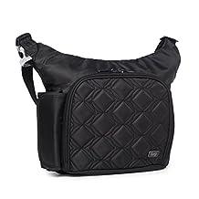Lug Sidecar Cross Body and Waist Pack Messenger Bag, Midnight Black