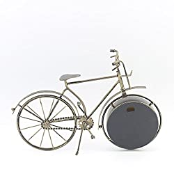 Minzhi 35x26x4CM Mute Bell for Office Vintage Bike Clocks Metal Retro Shape of Bicycle Decorative Desktop Clock