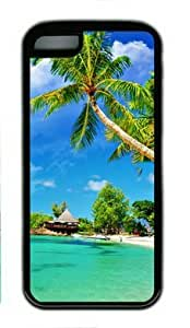 Tropical Palm Beach Iphone 5C Rubber Shell with Black Edges Cover Case by Lilyshouse