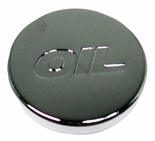 Chrome Oil Cap Cover (Chrome Top Push-In Oil Cap Plug for Valve Covers - Oil Logo)