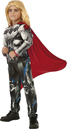 Marvel Avengers Thor Boys Muscle Costume with Clip-on Badge (Medium (Child Avengers Thor Muscle Costumes)