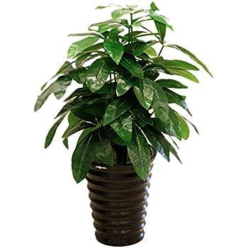 Artificial Evergreen Pachira Latex Plant Tree Fake Green Foliage Home Decoration