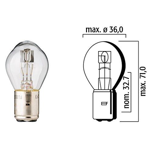Lampe Flösser 12V 45/40W BA20d klar Bilux